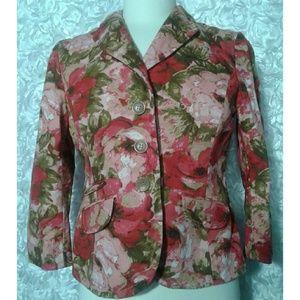ANN TAYLOR silk floral Blazer size 6P